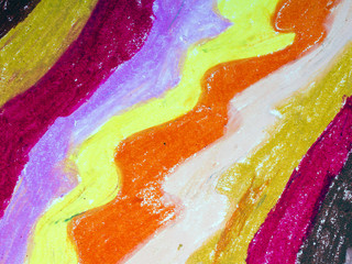 drawing: colorful waves