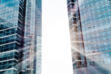 Skyscrapers shot with perspective
