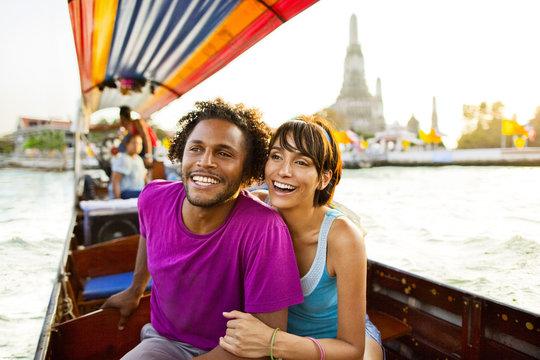 Couple riding gondola, Bangkok, Bangkok, Thailand