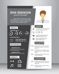 job resume template, vector