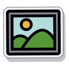 picture photo isolated icon vector illustration design