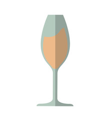 glass drink alcohol beverage icon. Isolated and flat illustration.