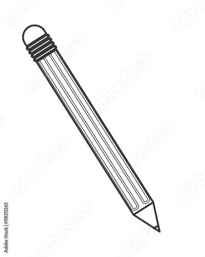 quotflat design pencil with eraser icon vector illustration