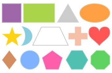 Basic geometric shapes. Isolated on white background