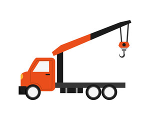 flat design Tow truck icon vector illustration