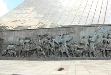 "Барельеф монумента ""Покорителям космоса"". Москва"