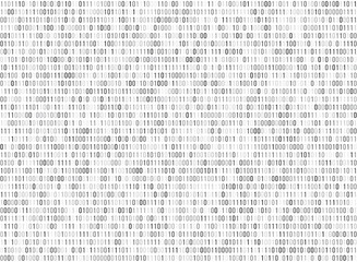 Binary matrix computer data code vector seamless background