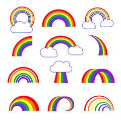 Rainbow vector icons