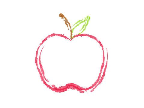 Vector Apple in Chalk Style