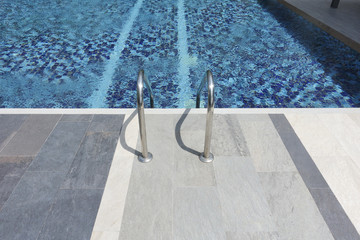 Empty outdoor swimming with stair