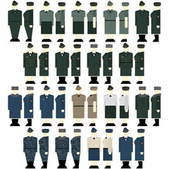Women's uniforms Interior Ministry troops