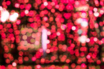Festival red bokeh background defocused light lamp