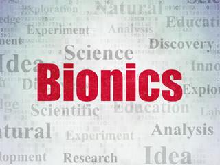 Science concept: Bionics on Digital Data Paper background