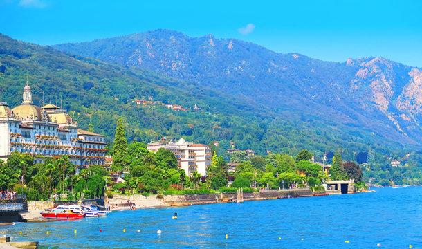 Panorama of Stresa, Lake Maggiore, Italy