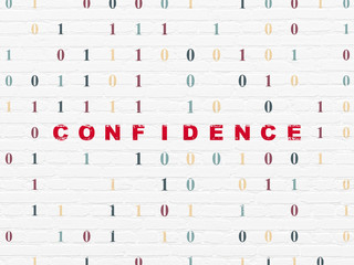 Finance concept: Confidence on wall background