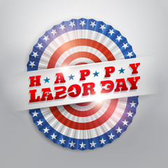 Happy Labor Day.America flags bunting.Vector illustrations eps10