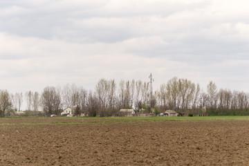 old farm in a field