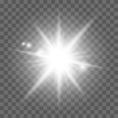 White light effect, sun rays