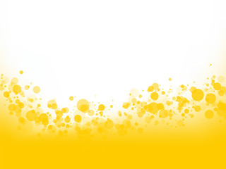 yellow bubbles background