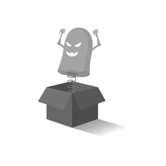 Ghost out of the box. 3d. Vector