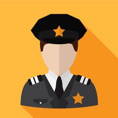 Policeman flat icon illustration