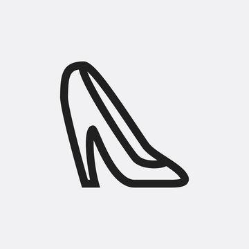Heel shoe icon illustration