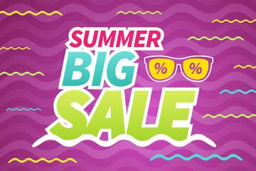 Summer big sales business background banner