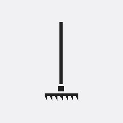 Rake icon illustration