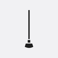 Broom icon illustration