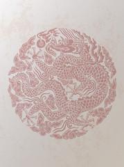 Chinese Retro Style Dragon Background
