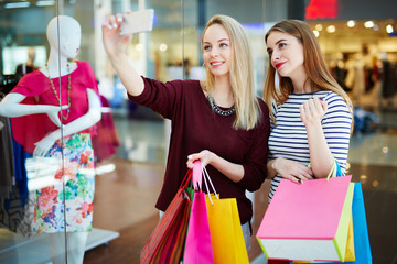 Selfie of shoppers