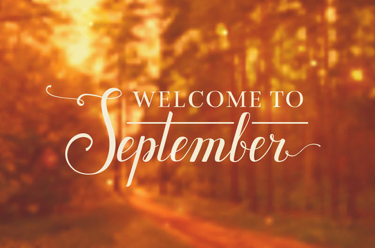 Welcome to September vector background.