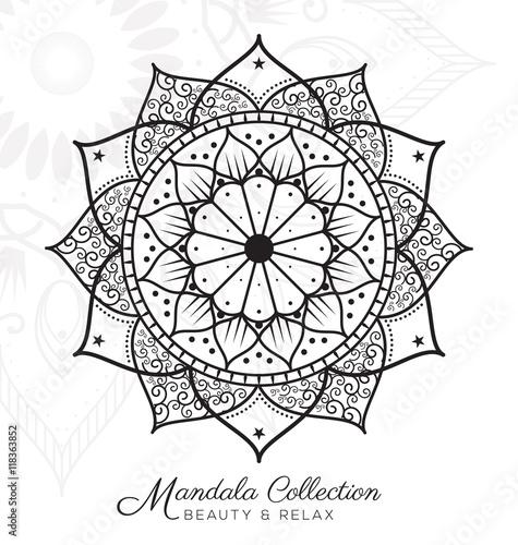 Tibetan Mandala Decorative Ornament Design For Coloring Page Greeting Card Invitation Tattoo