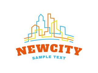 New city emblem on white background