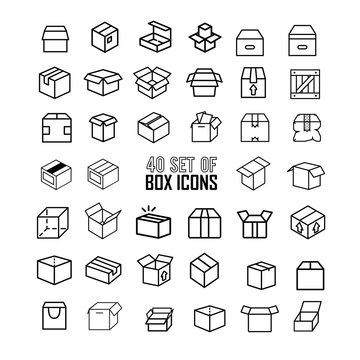 40 Box Icon Set