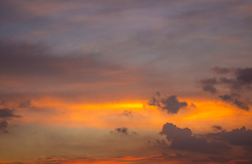 Colorful cloudscape in evening
