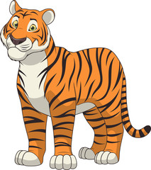 Adult funny tiger