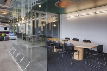 Empty meeting room in office