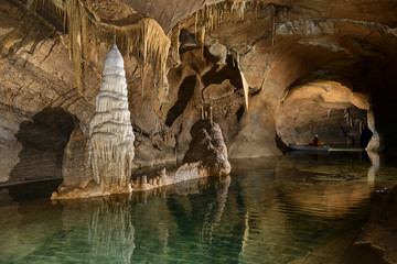 Still water in cave, Loz, Notranjska, Slovenia