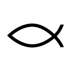 fish christ religion icon vector