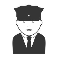 security man police icon vector