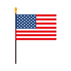 america usa flag national united stars blue red white 4 july vector  illustration isolated