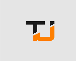Letter T and J logo template