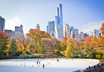 Acrylic Prints New York Ice rink