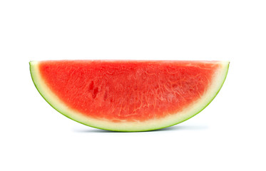 watermelon slice on the white background and clipping path