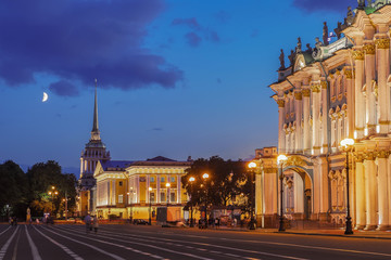 Winter Palace (Hermitage Museum) and the Admiralty in Saint Pete