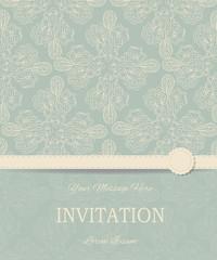 Retro Invitation or wedding card