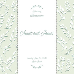 Vintage card or wedding invitation