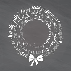 Christmas Wreath with lettering