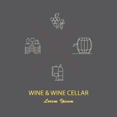 Wine logotypes.
